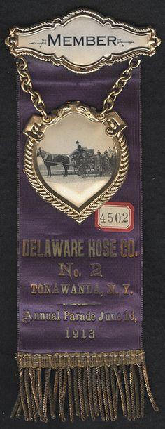 Parade Ribbon from Delaware Hose Co. No. 2 of Tonawanda, NY 1913 by Photo_History, via Flickr