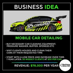 📹 Subscribe on Youtube for more ideas | #entrepreneur #makemoney #entrepreneurlife #money #business #youngentrepreneur #businessideas #startup #startupidea #makemoneyonline #workfromhome Cleaning Equipment, Car Cleaning, Meditation Hand Positions, Make Money Online, How To Make Money, Entrepreneur, Grow Your Own, Car Detailing, Instagram