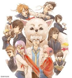 Gintama Gakuen ~~~ Where the bullies really ARE trying to kill you.