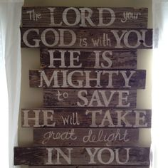 Last and favorite piece to hang in my room. Love being covered in the word!