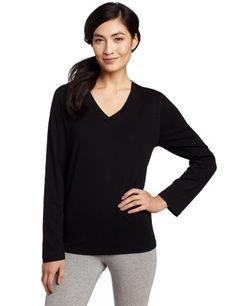 Hue Sleepwear Women`s Long Sleeve V-Neck Sleep Tee $18.00