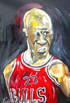 Here one for all you sport fans. SC Artist Ernest Lee shows off his paint brush strokes with a painting of Michael Jordan. He is still the man at 50. Happy Birthday!! Check out Ernest Lee's T-shirt Collection at www.ernestleetees.com Man Art, Brush Strokes, Paint Brushes, Michael Jordan, The Man, Folk Art, Fans, Happy Birthday, Sport