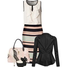 ruffled & striped :-), created by jvs8384 on Polyvore