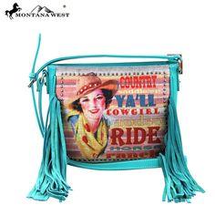 MW280-8287 Montana West Fringe Messenger Handbag