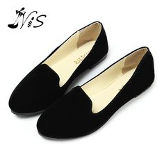 Hot Ladies Suede Leather Ballerina Dolly Womens Flats Ballet Shoes Loafers Princess Shoes Outsole Comfortable Wholesale #Affiliate