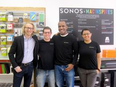 Travis Sluss, CEO and owner of MacInspires with his teammates Michael, John and Stephanie