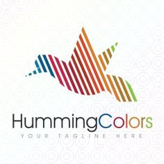Exclusive Customizable Colorful Bird Logo For Sale: Humming Colors | StockLogos.com