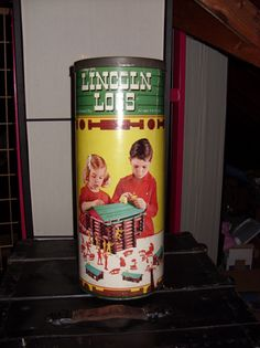 Lincoln logs - I was technically challenged with these. I never could make the pretty houses that were on the can.