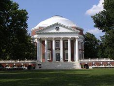 Rotunda, University of Virginia in Albemarle County.
