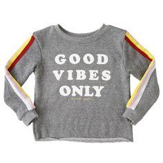 Spiritual Gangster Sweatshirt Good Vibes Only | West Coast Kids