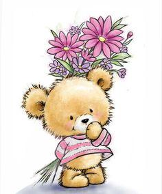 Illustration Mignonne, Cute Illustration, Art D'ours, Illustrator, Tatty Teddy, Cute Teddy Bears, Bear Art, Clear Stamps, Cute Cartoon