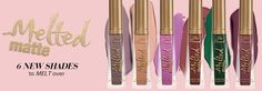 6 New Shades of Melted Matte Lip Color~~~>http://goo.gl/7pevqb What do you think about that GREEN shade?!