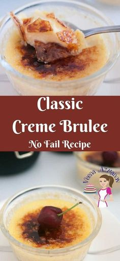 Nothing beats a classic dessert such as this Creme Brulee. A creamy rich custard based dessert baked in a water bath then topped with a layer of hard caramel. Looks impressive and exotic but truly very simple and easy to make. via @Veenaazmanov