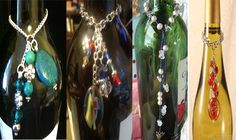 Majority of these wine container crafts are considered the most lovable tips to repurpose glass vessels, all of these quick and easy DIYs make. Wine Bottle Charms, Wine Bottle Tags, Bottle Jewelry, Wine Bottle Stoppers, Bottle Art, Bottle Crafts, Glass Jewelry, Jewlery, Painted Wine Bottles