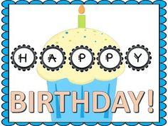 Birthday Bundle for your back to school bulletin board! follow me on teachers pay teachers at BROOKES BUNDLES