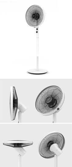 It might look like your average floor fan, but the 3D Circulating Fan is anything but. A thoughtful relocation of its motor makes all the difference! Inclined at a 135° vertical angle, the motor is affixed in such a way that it makes it possible for the fan to sway with a much larger range of motion. In fact, it can be positioned in almost any direction but straight down.