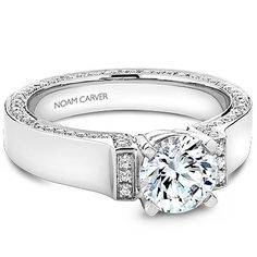 Noam Carver - Bridal Mount - priced from $2,710 (does not include headstone) Noam Carver Engagement Ring #diamondring #diamond #engagementring #bling #engaged  sold at Barthau Jewellers, www.barthau.com