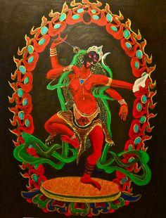 Arkadiusz Danovski, Red Yogini.  Kurukulla, Tantric Buddhist Goddess.
