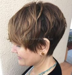 Short Hairstyles For Fine Hair pixie haircut for mature women kfotttm - Hair Styles Curly Pixie Hairstyles, Bob Hairstyles For Thick, Short Layered Haircuts, Haircuts For Fine Hair, Pixie Haircuts, Layered Hairstyles, Medium Hairstyles, Natural Hairstyles, Braided Hairstyles