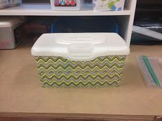 Cover baby wipes with duct tape! Great to use for organization!!