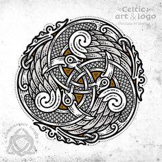 Three Celtic birds in a circle (final workflow, vector graphics) три кельтских птицы неизвестного вида в круге  (финал, векторная графика)  #celtic #celticart #workflow #celticknot #ornaments #screenshot #arzarz #bird #celticartlogo #artwork #Arzamastsev #siberia #doodle #celticdesign #knotwork #birds #viking #line #art #illustration #linework #vector #drawing #norse #workprocess #vectorart #vikingart #celticbird #coreldraw #vectorart