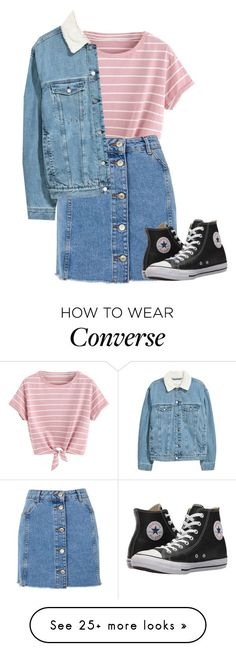 Girl on the street by clea69 on Polyvore featuring Topshop and Converse