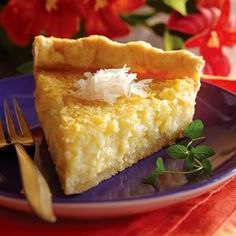 Texas Recipes - Pineapple Coconut Chess Pie