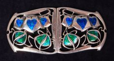 An Archibald Knox for Liberty & Co Art Nouveau silver and enamel brooch sold for Archibald Knox, Bijoux Art Nouveau, Art Nouveau Jewelry, Isle Of Man, Enamel Jewelry, Antique Jewelry, Vintage Jewelry, Gold Jewellery, Manx