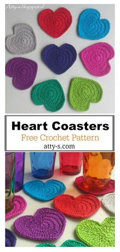 Heart Coaster Free Crochet Pattern and Paid - Page 2 of 2 Crochet Birds, Crochet Cross, Crochet Bear, Free Crochet, Free Heart Crochet Pattern, Crochet Coaster, Crochet Food, Crochet Lace, Knitting Patterns