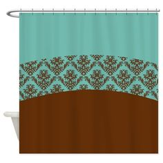 Solid turquoise blue and brown lace decor creates a contemporary, bright and colorful accent decoration.