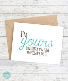 Boyfriend card Funny I love you card Girlfriend by FlairandPaper