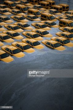 Taxis sit in a flooded lot after Hurricane Sandy October 30, 2012 in Hoboken, New Jersey. The storm has claimed at least 40 lives in the United States and has caused massive flooding across much of the Atlantic seaboard. U.S. President Barack Obama has declared the situation a 'major disaster' for large areas of the U.S. east coast, including New York City, with widespread power outages and significant flooding in parts of the city.