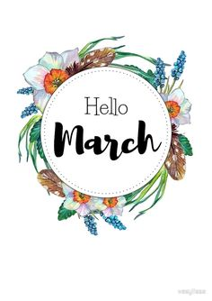 Hello March - monthly cover for planners, bullet journals by vasylissa
