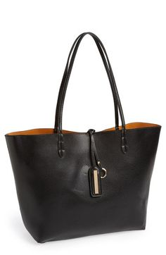 Street Level Reversible Faux Leather Tote (Juniors) | Nordstrom