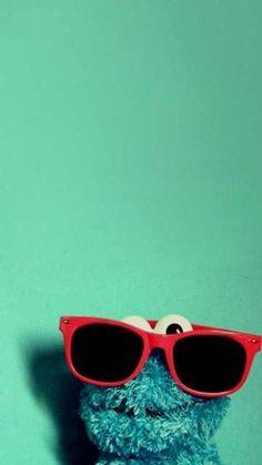 Cute Cookie Monster Wallpaper Cookie monster wallpaper Monster cookies Sunglass frames
