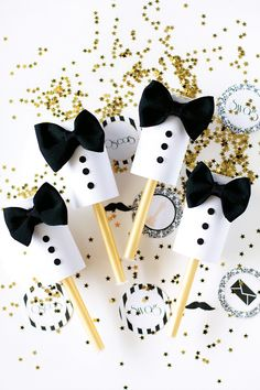 Oscars Viewing Party Tuxedo Poppers {DIY Tutorial}
