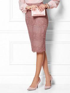 Shop Eva Mendes Collection - Ashley Lace Pencil Skirt. Find your perfect size online at the best price at New York & Company.