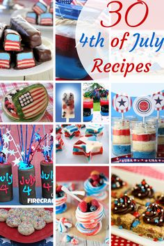 30 Red, White  blue 4th of July Recipes
