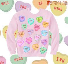 AntiValentine's Day Insult Heart Candy Kawaii by fASHLINdotcom, $45.00