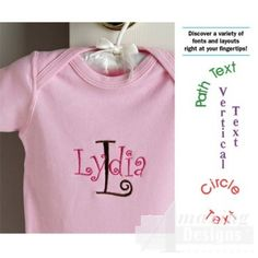 Letter It! Free Demo - Embroidery Lettering and Monogram Software - Embroidery Software - Other Products