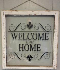 Vintage Single Pane Window Personalized