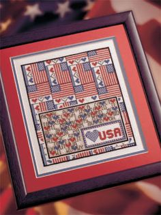 USA free cross-stitch pattern of the day from freepatterns.com 8/25/13