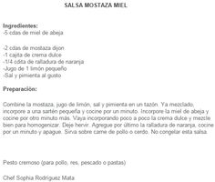 Salsa Mostaza Miel