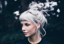 Then check out these 28 Inspiring Silver Hair Color ideas and get inspired! Short Hair Styles Easy, Short Hair Cuts, Curly Hair Styles, Long Gray Hair, Silver Grey Hair, Haircut For Thick Hair, Short Hair Updo, Blond Pony, Hairstyles With Bangs