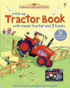 Wind-up Tractor Book - pop up characters & a toy tractor that winds through a Farmyard Tales story.  Perfect gift book for a reluctant reader!