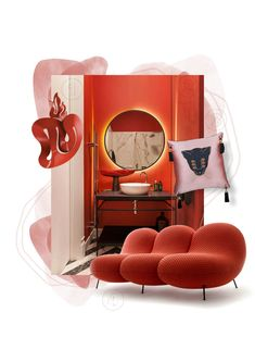 From love and passion to anger and aggression,redseems to wield a powerful, psychological power.Oxy Fireis an orange and bright red that is fiery, saturated, and guaranteed to spark a reaction. JoinCovetEDand discover how to bringsummerinto your home withoxy fire. New Interior Design, Best Interior, Interior Design Inspiration, New Trends, Color Trends, All Design, Design Trends, Top Luxury Brands, Unique Lighting