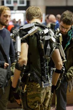 The Future is Here: Printed Prosthetics Exoskeleton Suit, Powered Exoskeleton, Male Cosplay, Cosplay Diy, Robot Hand, Iron Man Armor, Futuristic Armour, Future Weapons, Sci Fi Armor