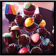 From my personal collection: Umbrella Baby Shower Cupcakes