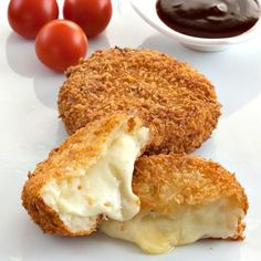 Cheese Korokke - a fantastic Japanese recipe: deep fried and panko coated potato croquettes filled with gooey cheese.