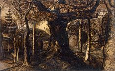 'The Skirts of a Wood' by Samuel Palmer (1825)
